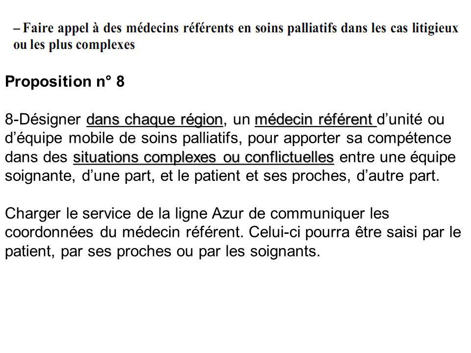 Proposition n° 8