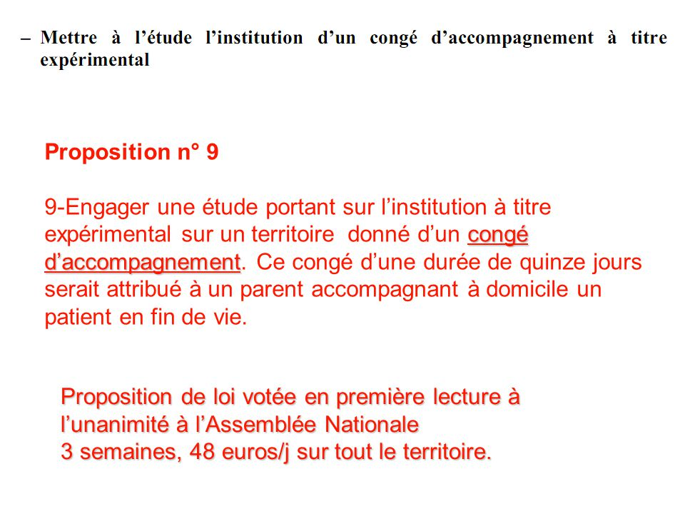 Proposition n° 9