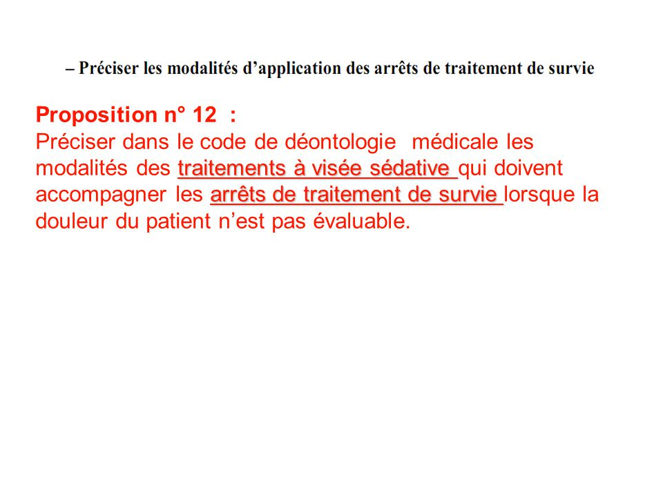 Proposition n° 12 :
