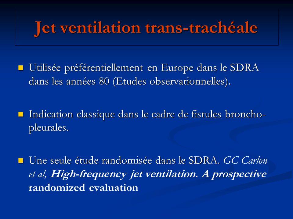 Jet ventilation trans-trachéale