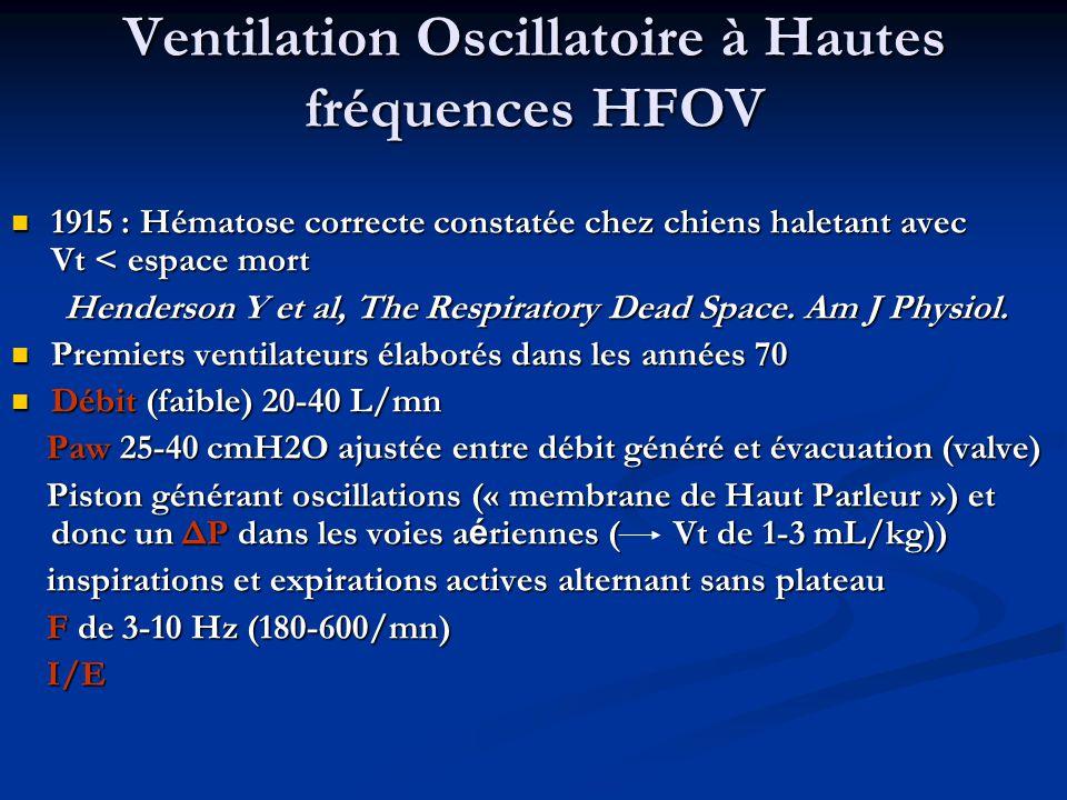 Ventilation Oscillatoire à Hautes fréquences HFOV
