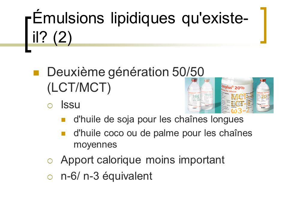 Émulsions lipidiques qu existe-il (2)
