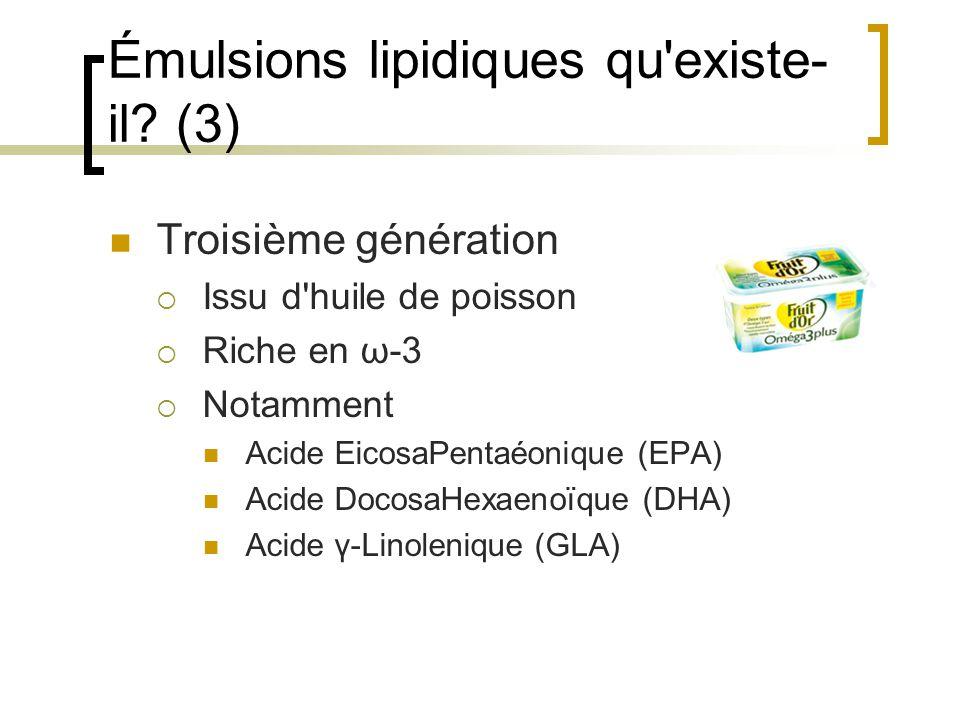 Émulsions lipidiques qu existe-il (3)