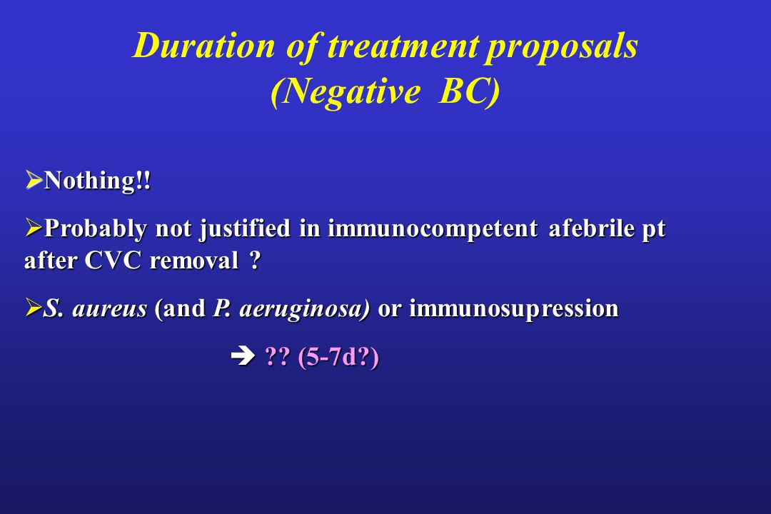Duration of treatment proposals