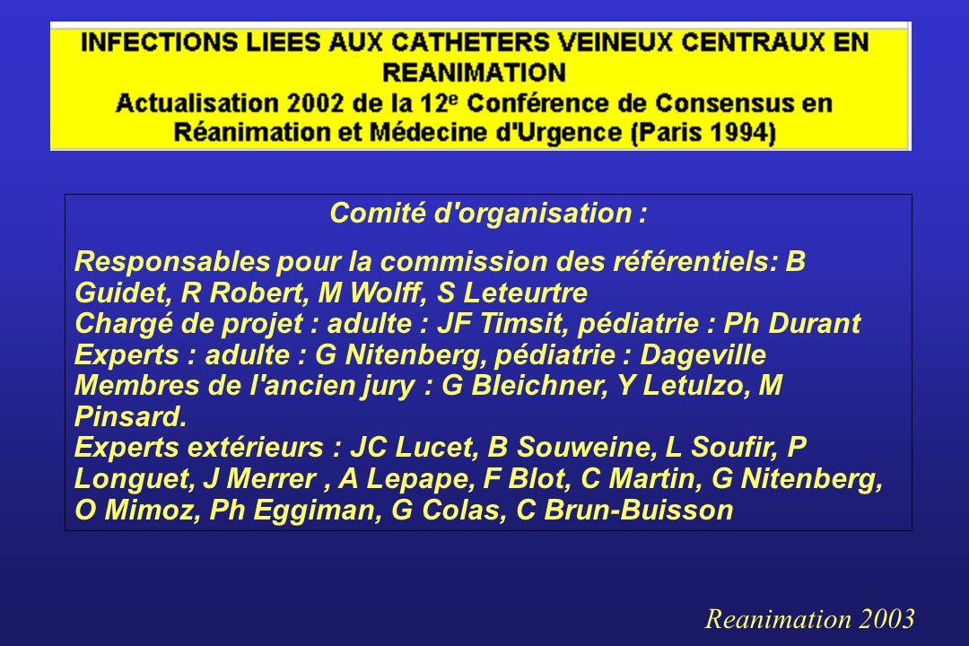 Comité d organisation :