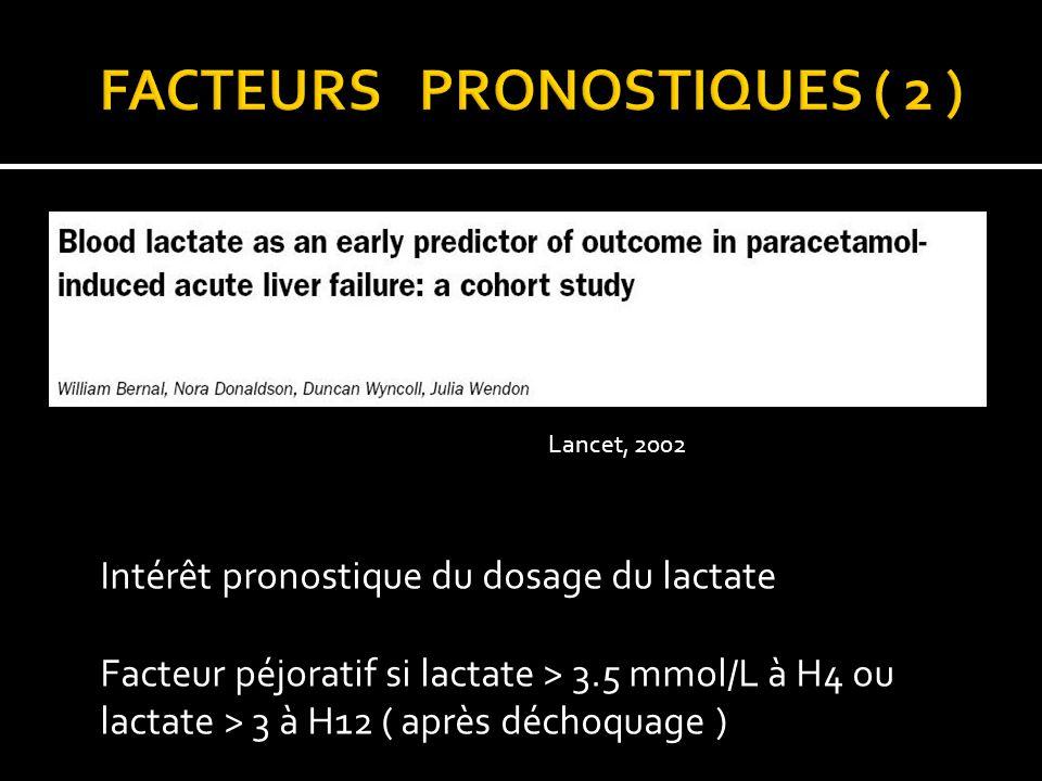 FACTEURS PRONOSTIQUES ( 2 )