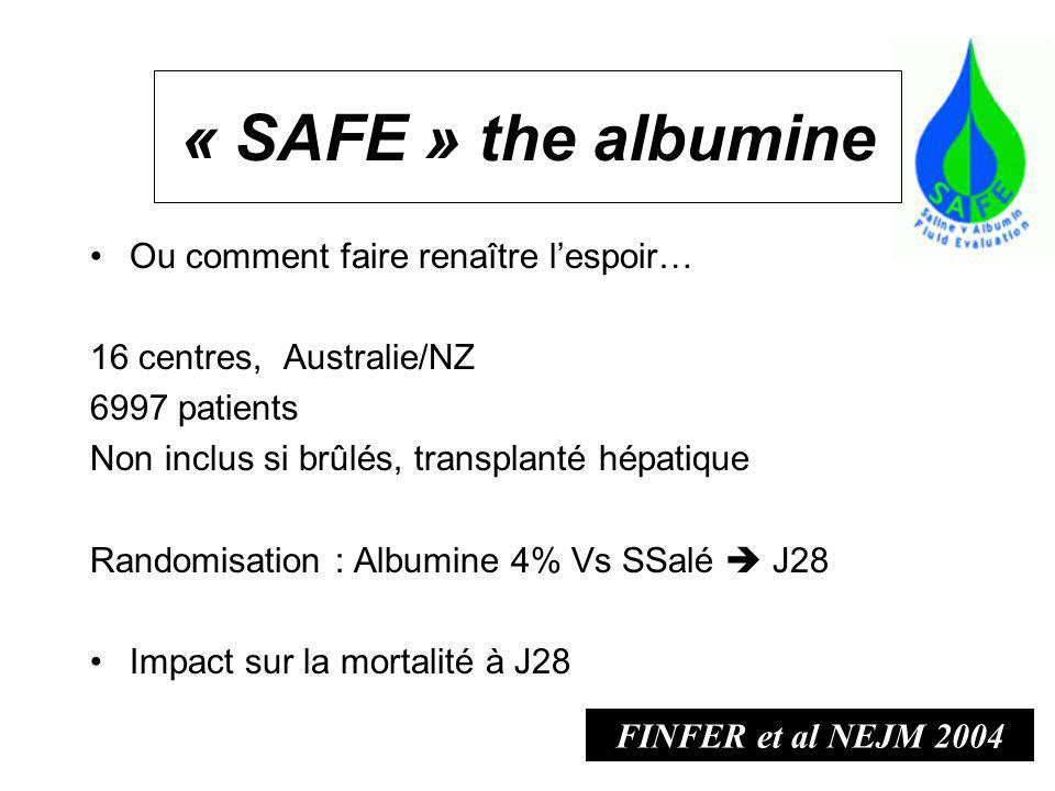 « SAFE » the albumine Ou comment faire renaître l'espoir…