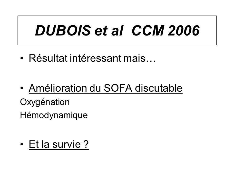 DUBOIS et al CCM 2006 Résultat intéressant mais…