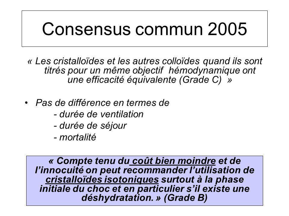 Consensus commun 2005
