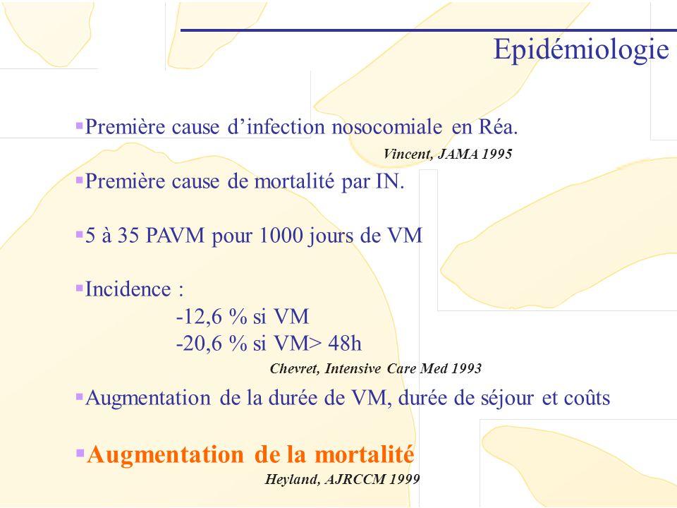 Epidémiologie Augmentation de la mortalité