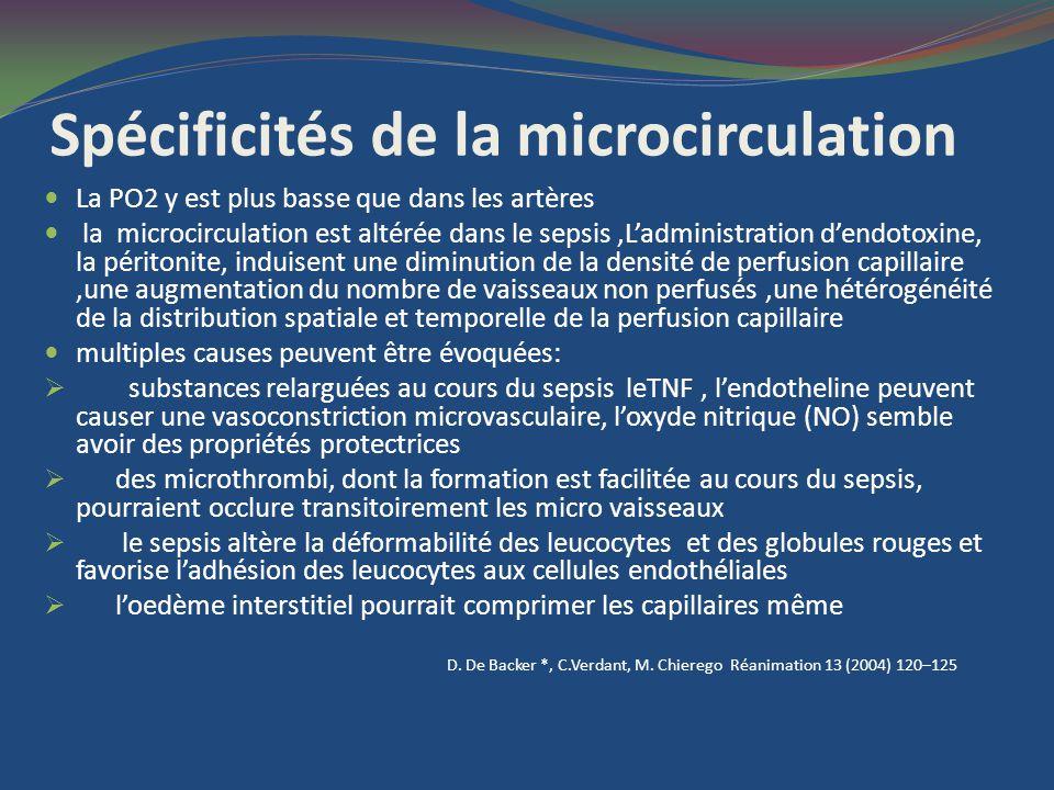 Spécificités de la microcirculation