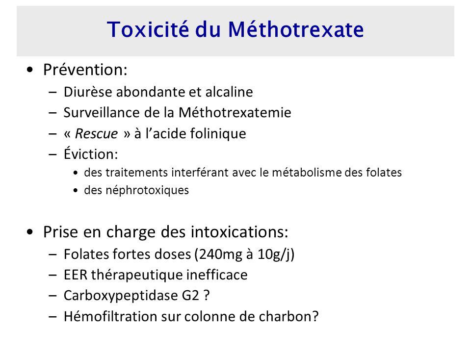 Toxicité du Méthotrexate