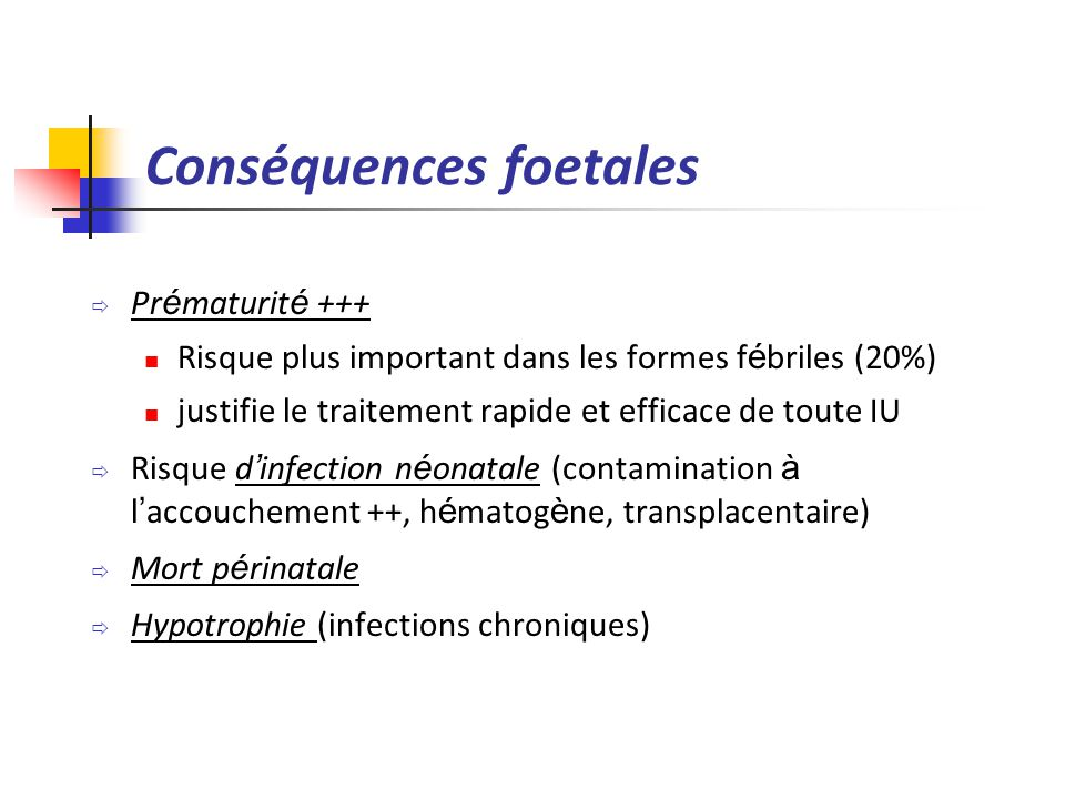 Conséquences foetales