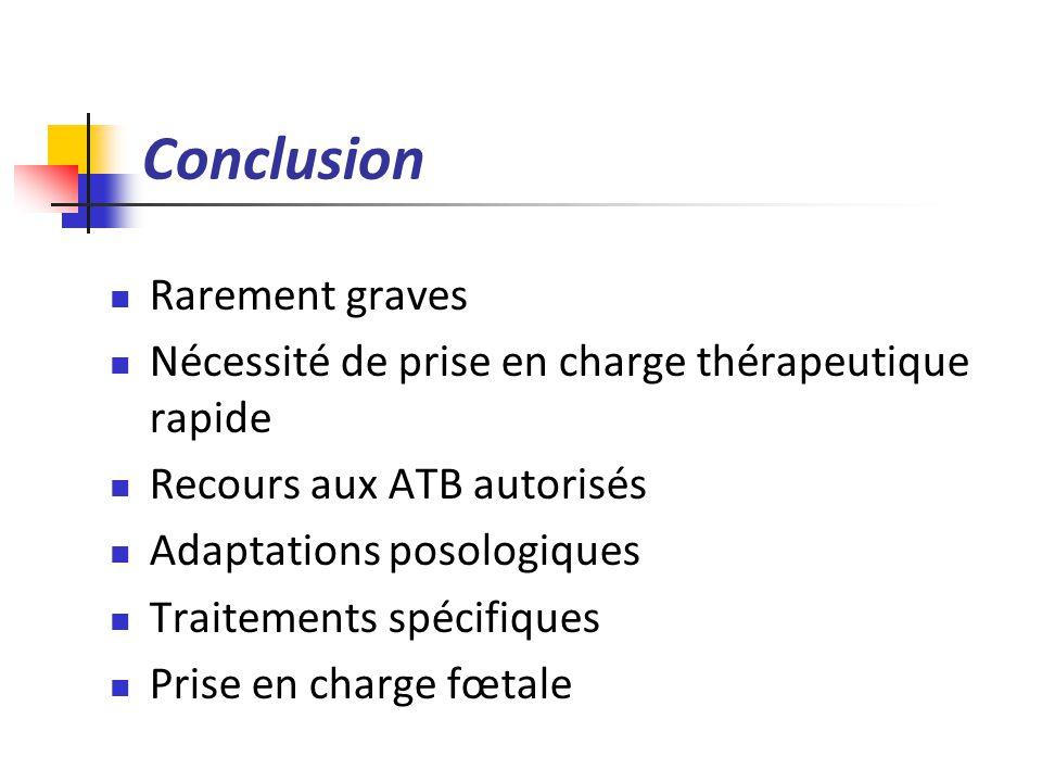 Conclusion Rarement graves