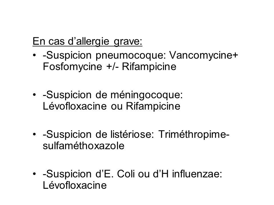 En cas d'allergie grave: