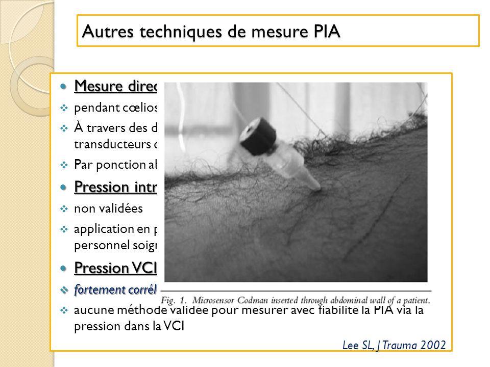 Autres techniques de mesure PIA