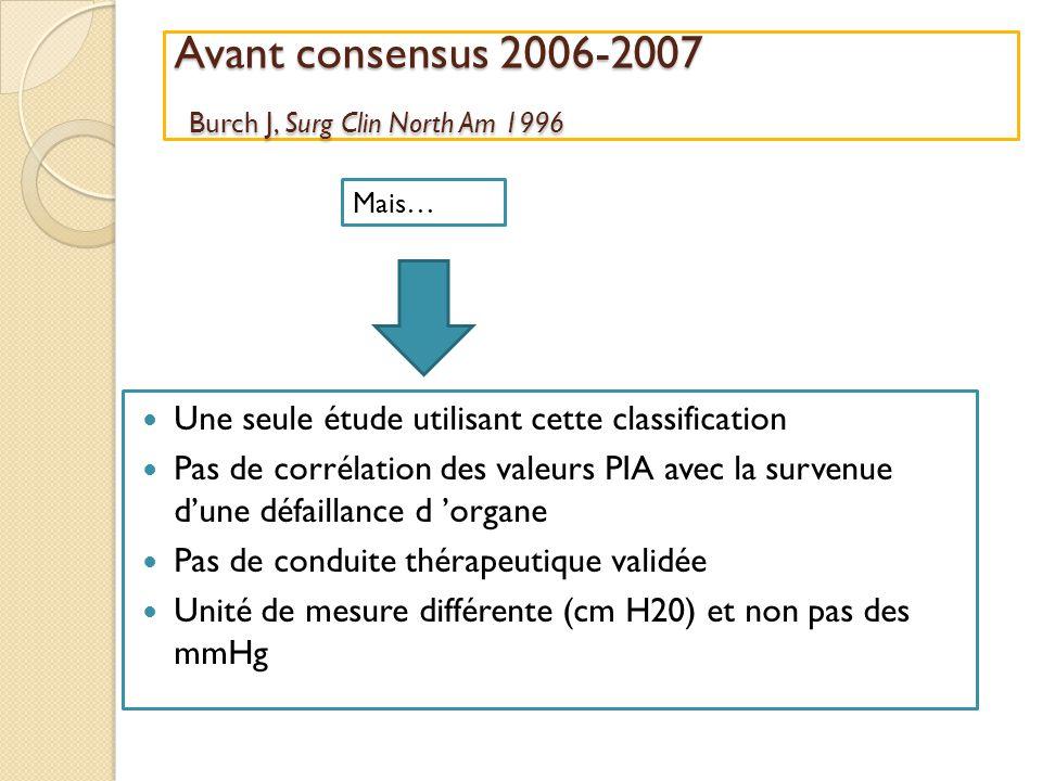 Avant consensus 2006-2007 Burch J, Surg Clin North Am 1996