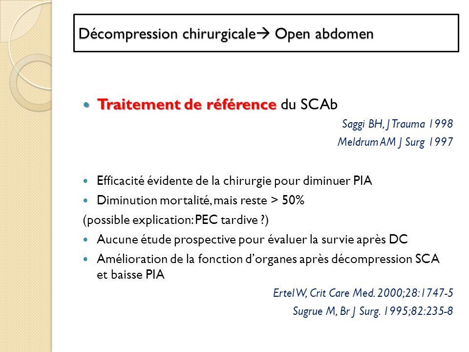 Décompression chirurgicale Open abdomen
