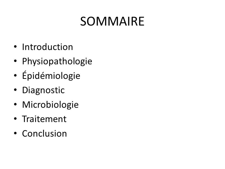 SOMMAIRE Introduction Physiopathologie Épidémiologie Diagnostic