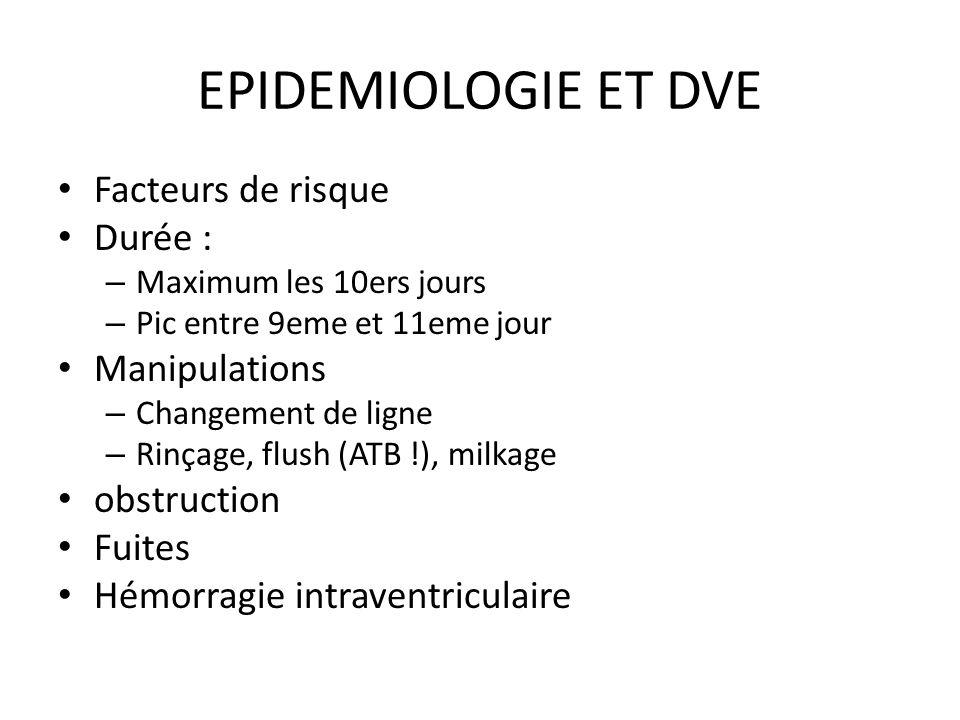 EPIDEMIOLOGIE ET DVE Facteurs de risque Durée : Manipulations