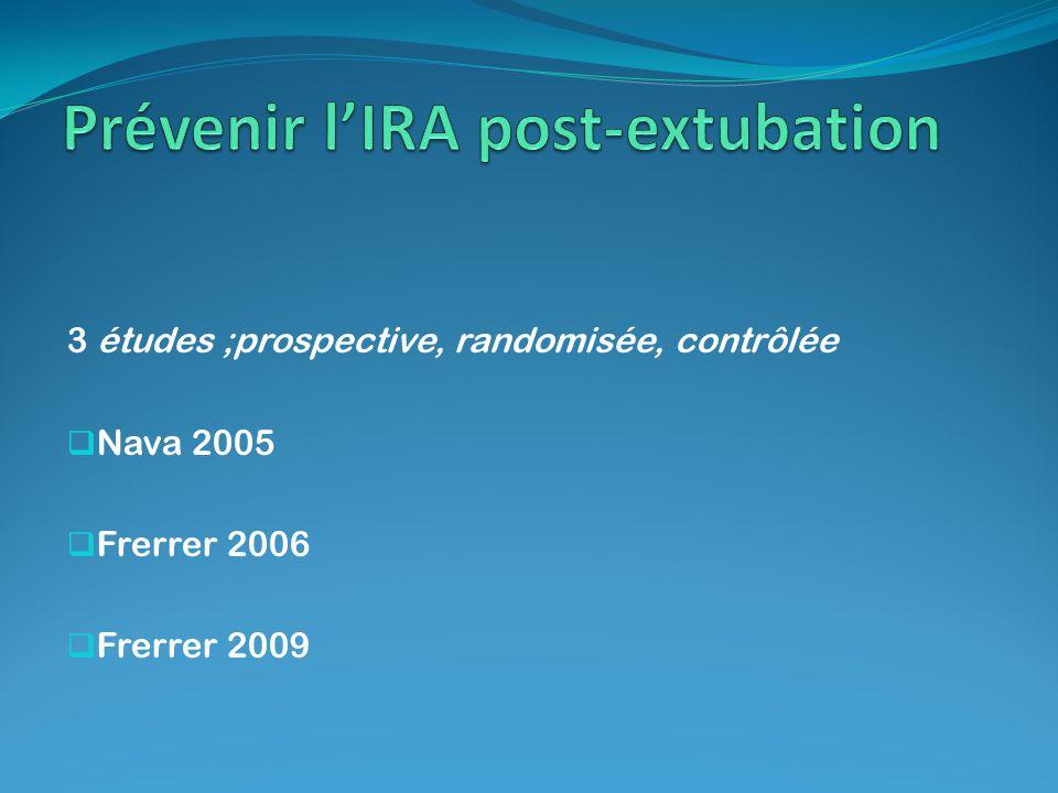 Prévenir l'IRA post-extubation