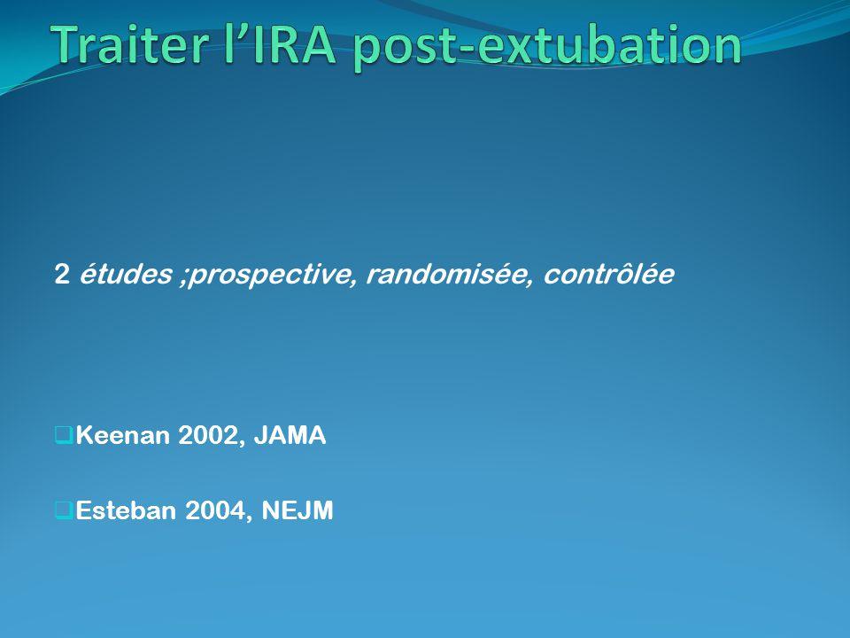 Traiter l'IRA post-extubation