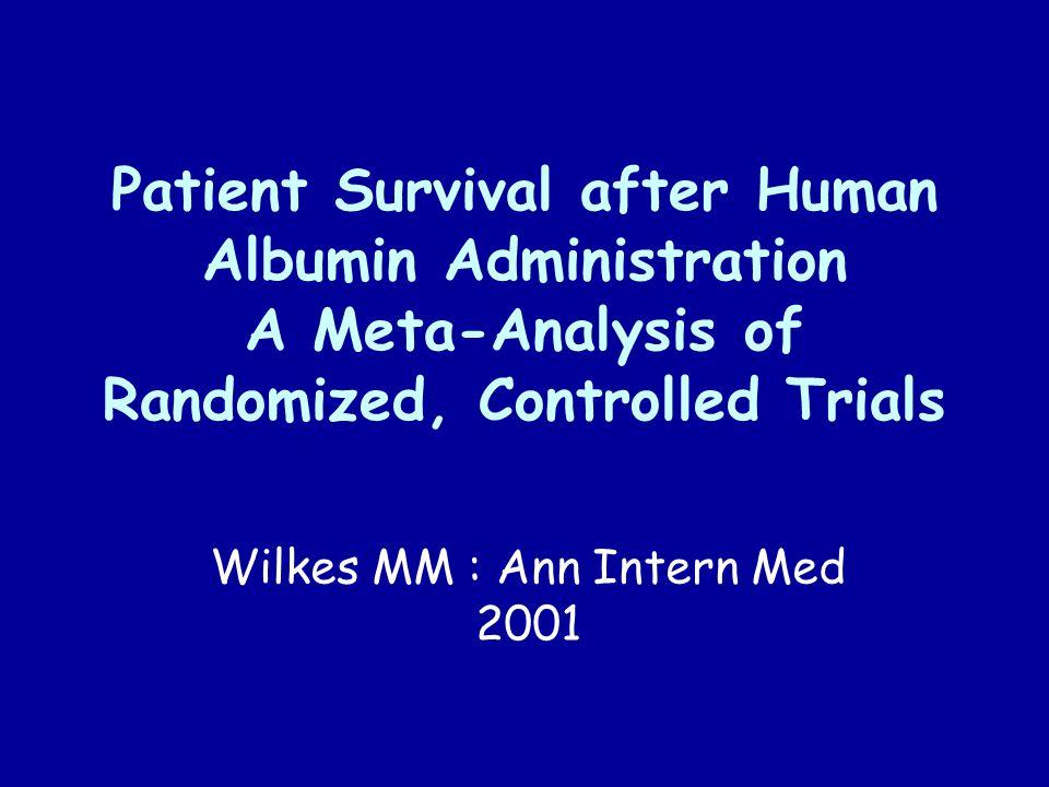 Wilkes MM : Ann Intern Med 2001
