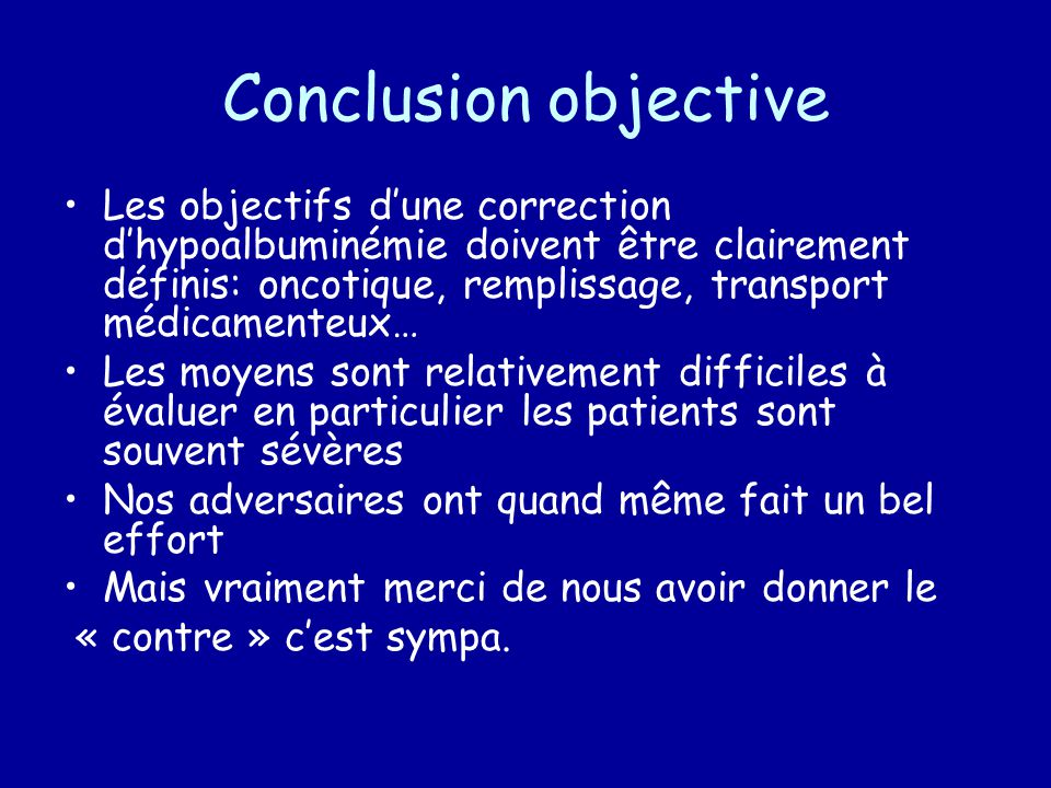 Conclusion objective