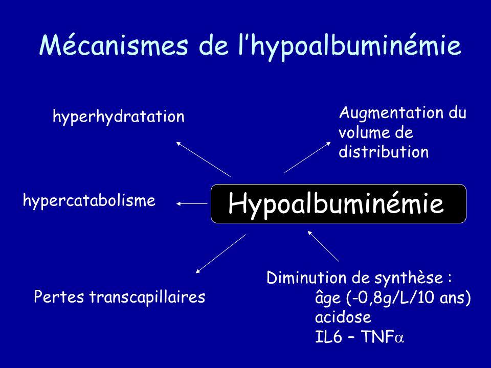 Mécanismes de l'hypoalbuminémie