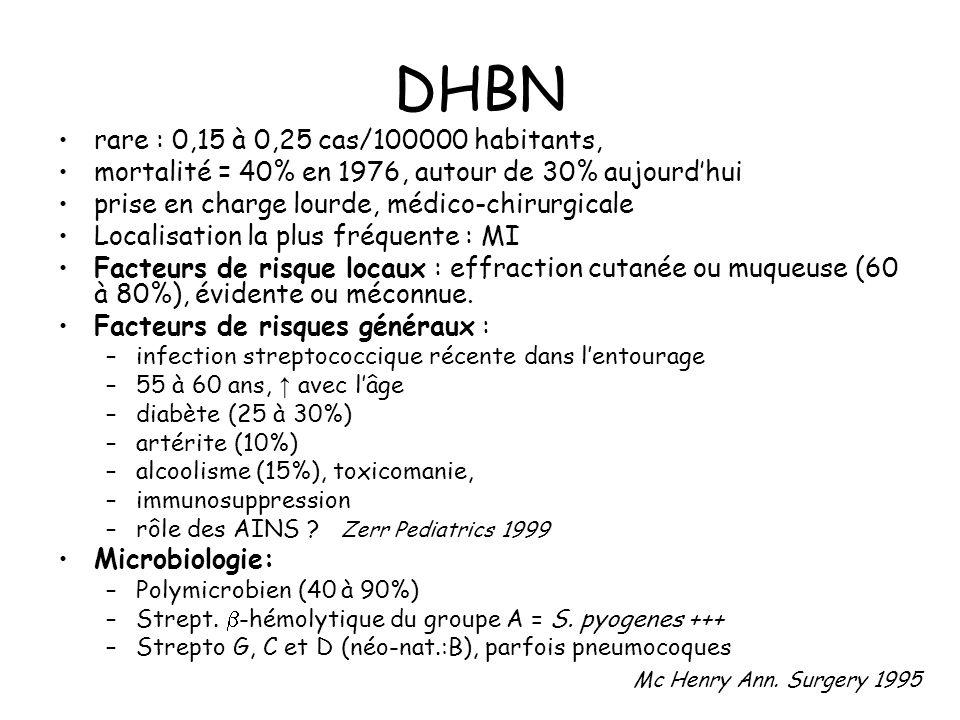 DHBN rare : 0,15 à 0,25 cas/100000 habitants,