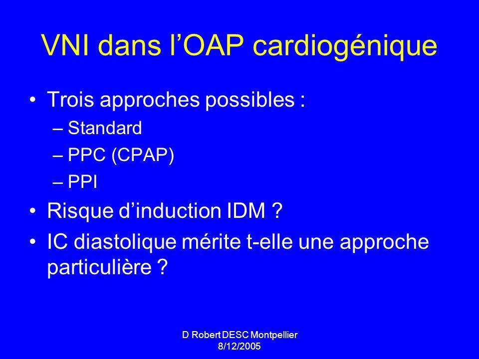 VNI dans l'OAP cardiogénique