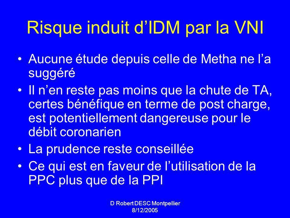 Risque induit d'IDM par la VNI