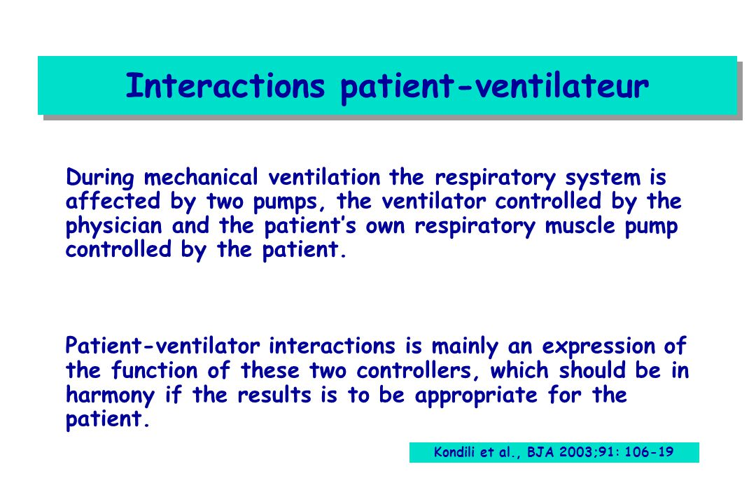 Interactions patient-ventilateur