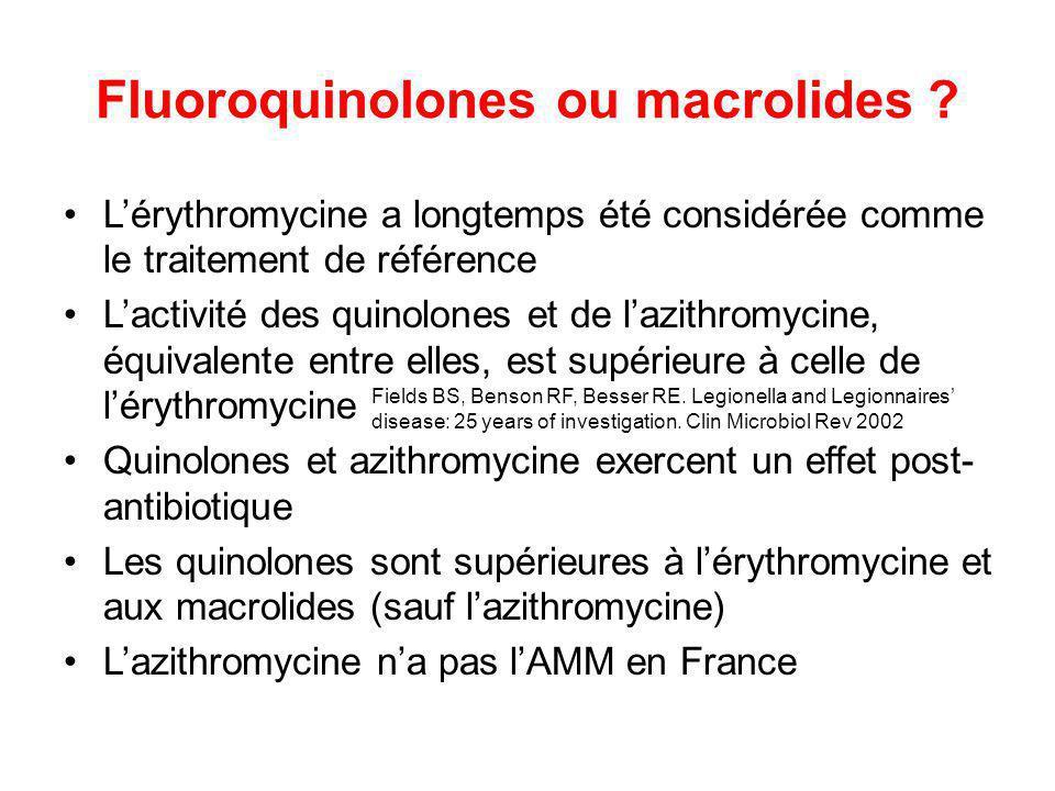 Fluoroquinolones ou macrolides