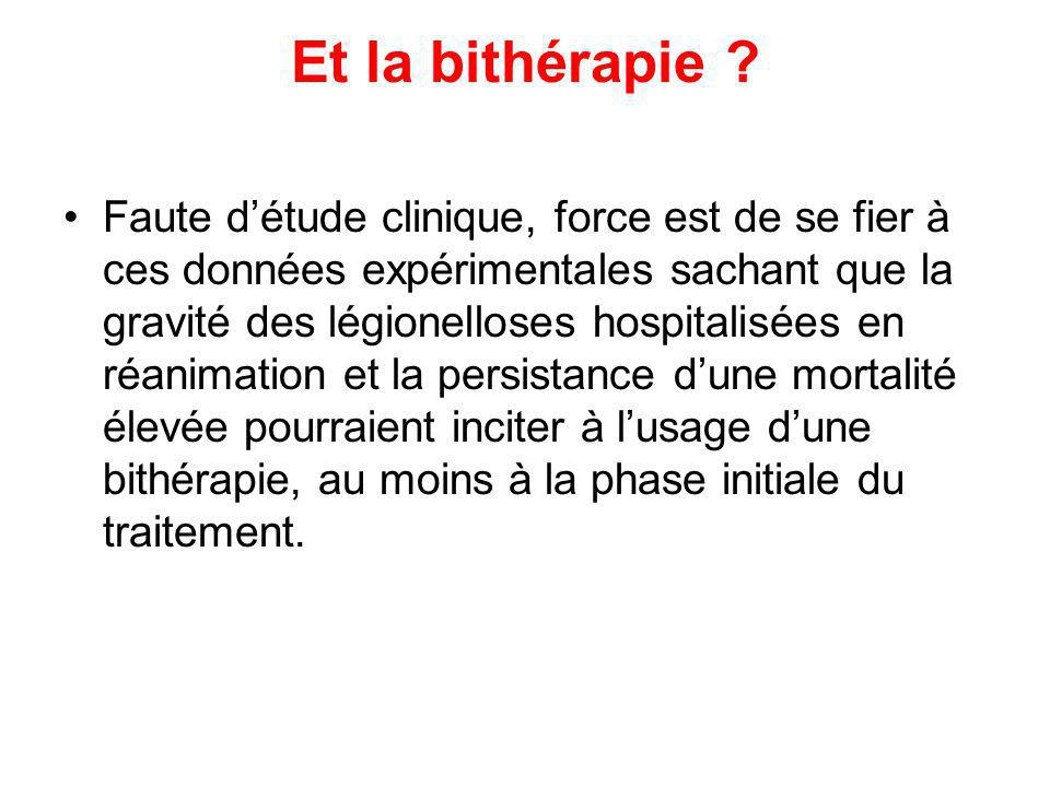 Et la bithérapie