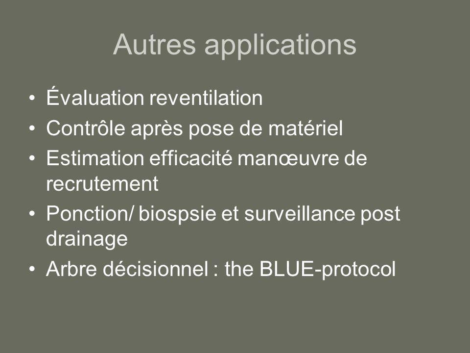 Autres applications Évaluation reventilation