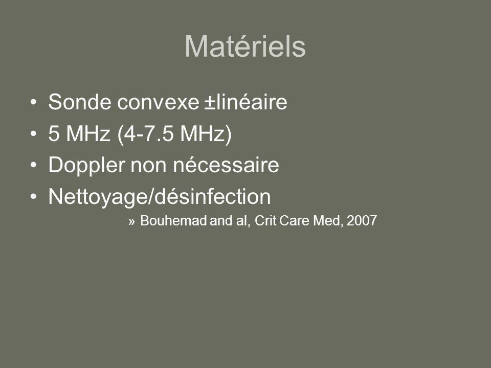 Matériels Sonde convexe ±linéaire 5 MHz (4-7.5 MHz)
