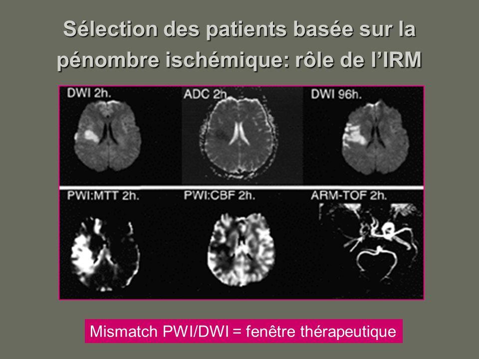 Sélection des patients basée sur la pénombre ischémique: rôle de l'IRM
