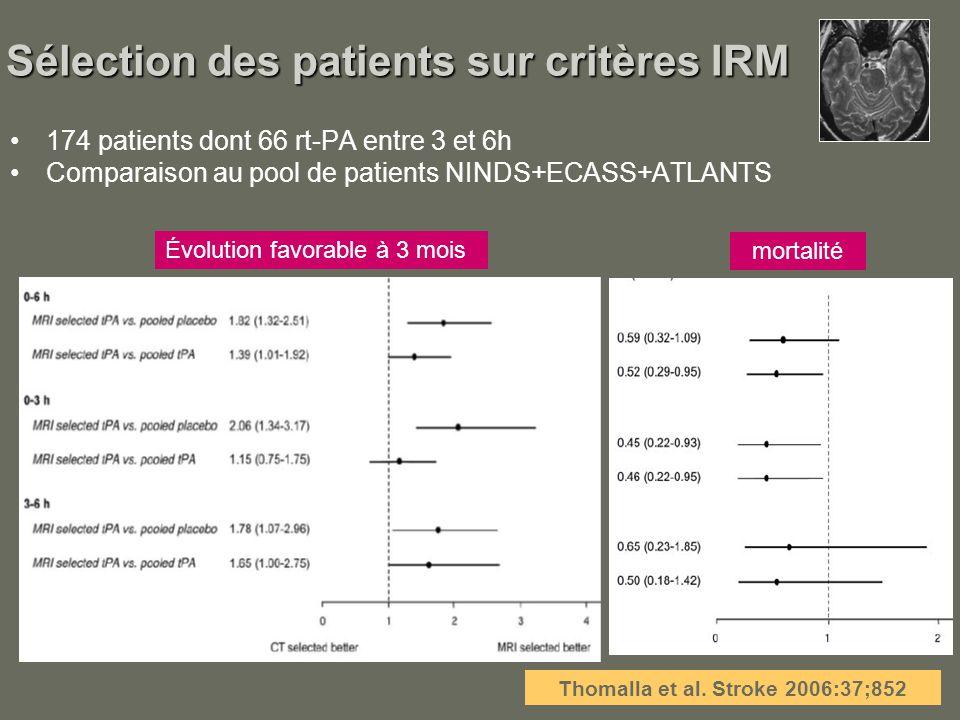 Sélection des patients sur critères IRM