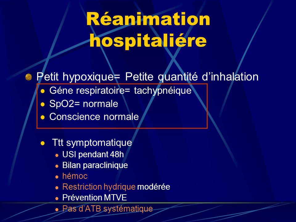 Réanimation hospitaliére