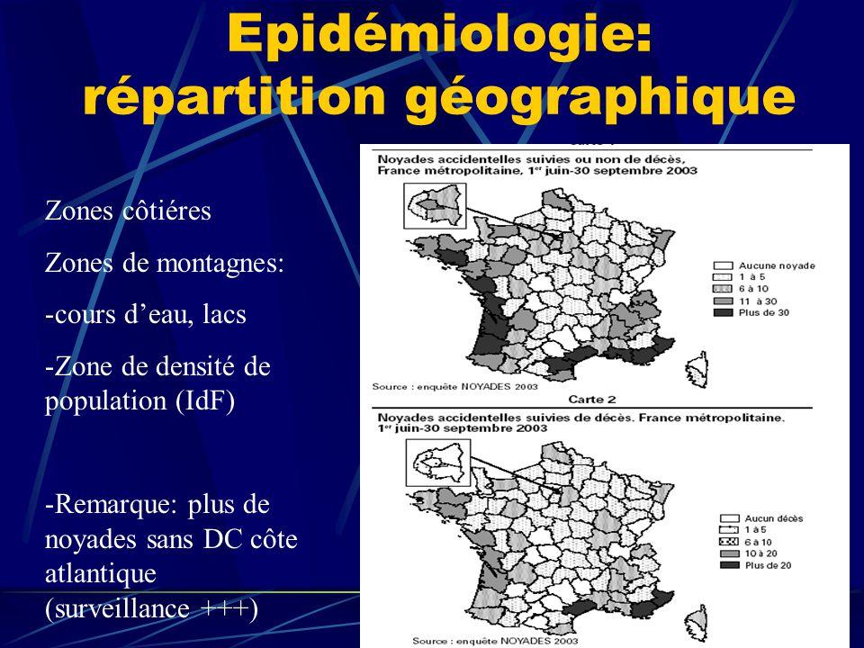 Epidémiologie: répartition géographique