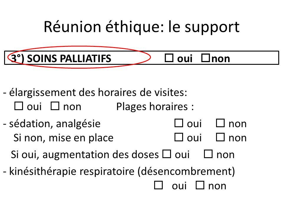 Réunion éthique: le support