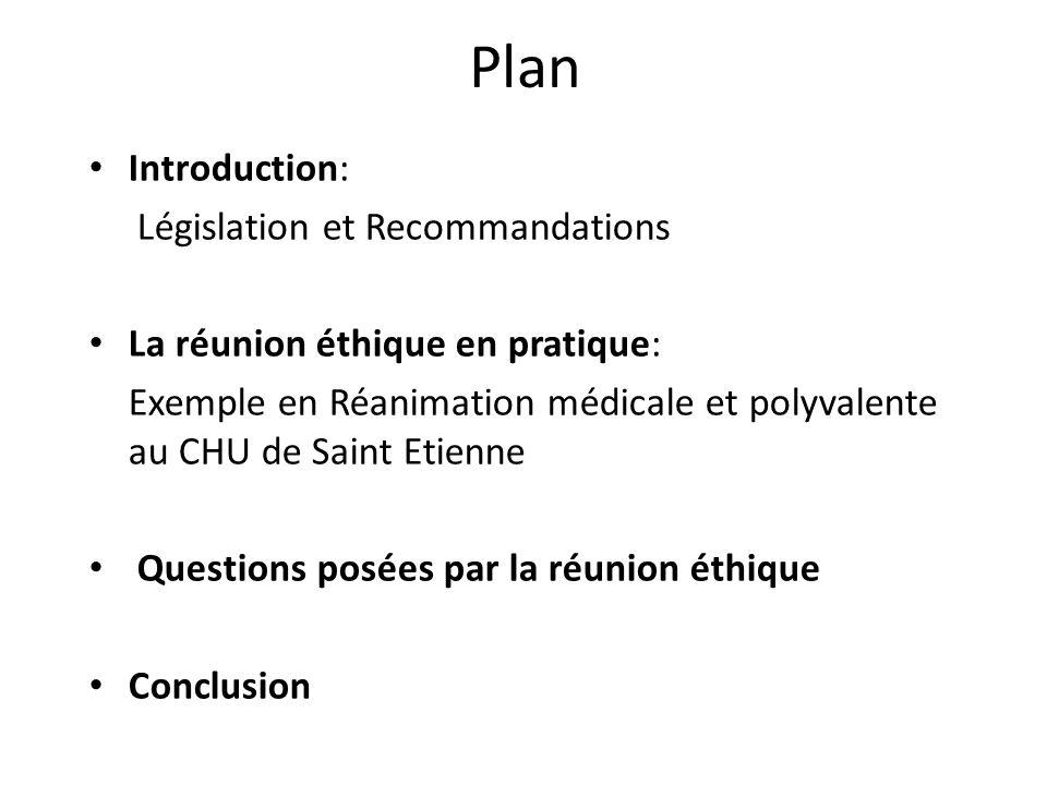 Plan Introduction: Législation et Recommandations