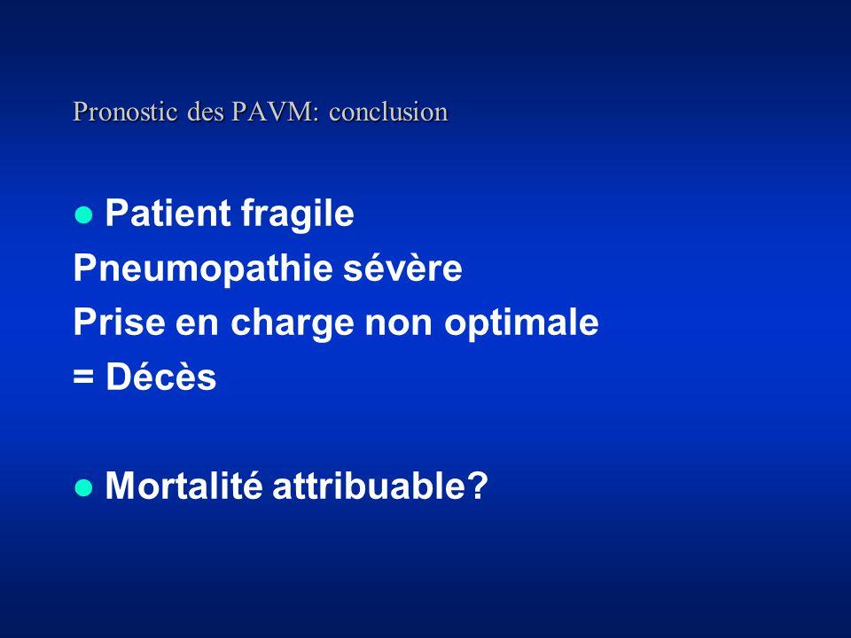 Pronostic des PAVM: conclusion