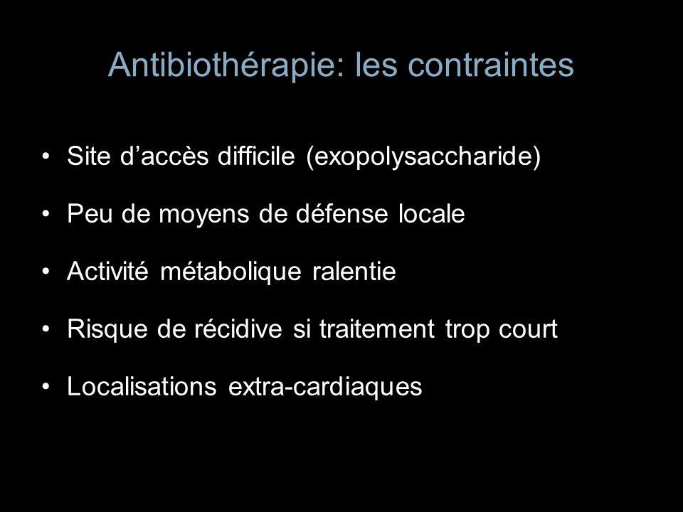 Antibiothérapie: les contraintes