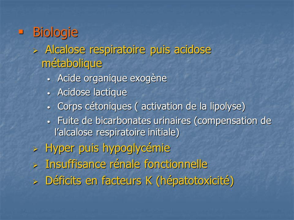 Biologie Alcalose respiratoire puis acidose métabolique