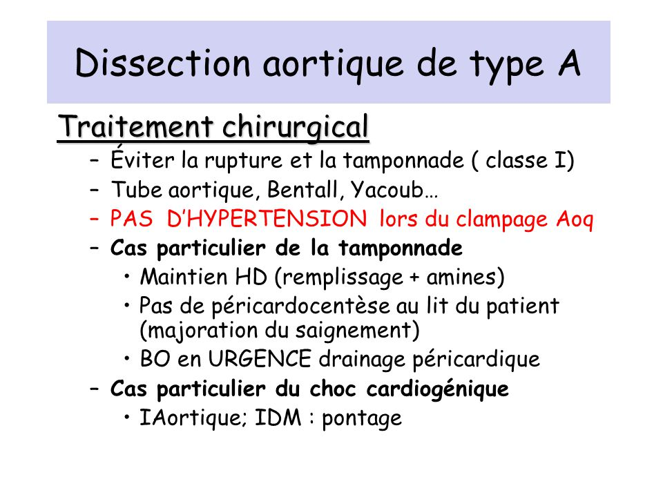Dissection aortique de type A