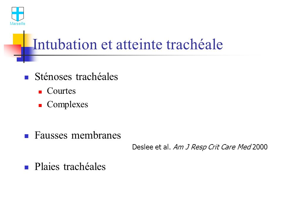 Intubation et atteinte trachéale