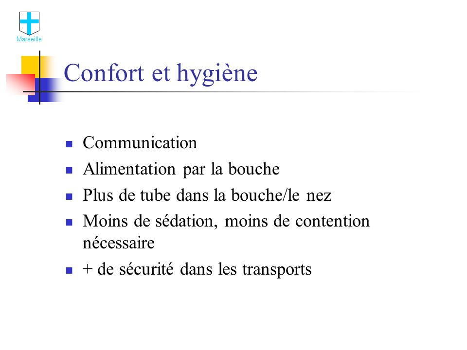 Confort et hygiène Communication Alimentation par la bouche