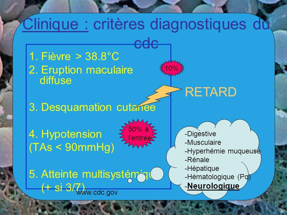Clinique : critères diagnostiques du cdc